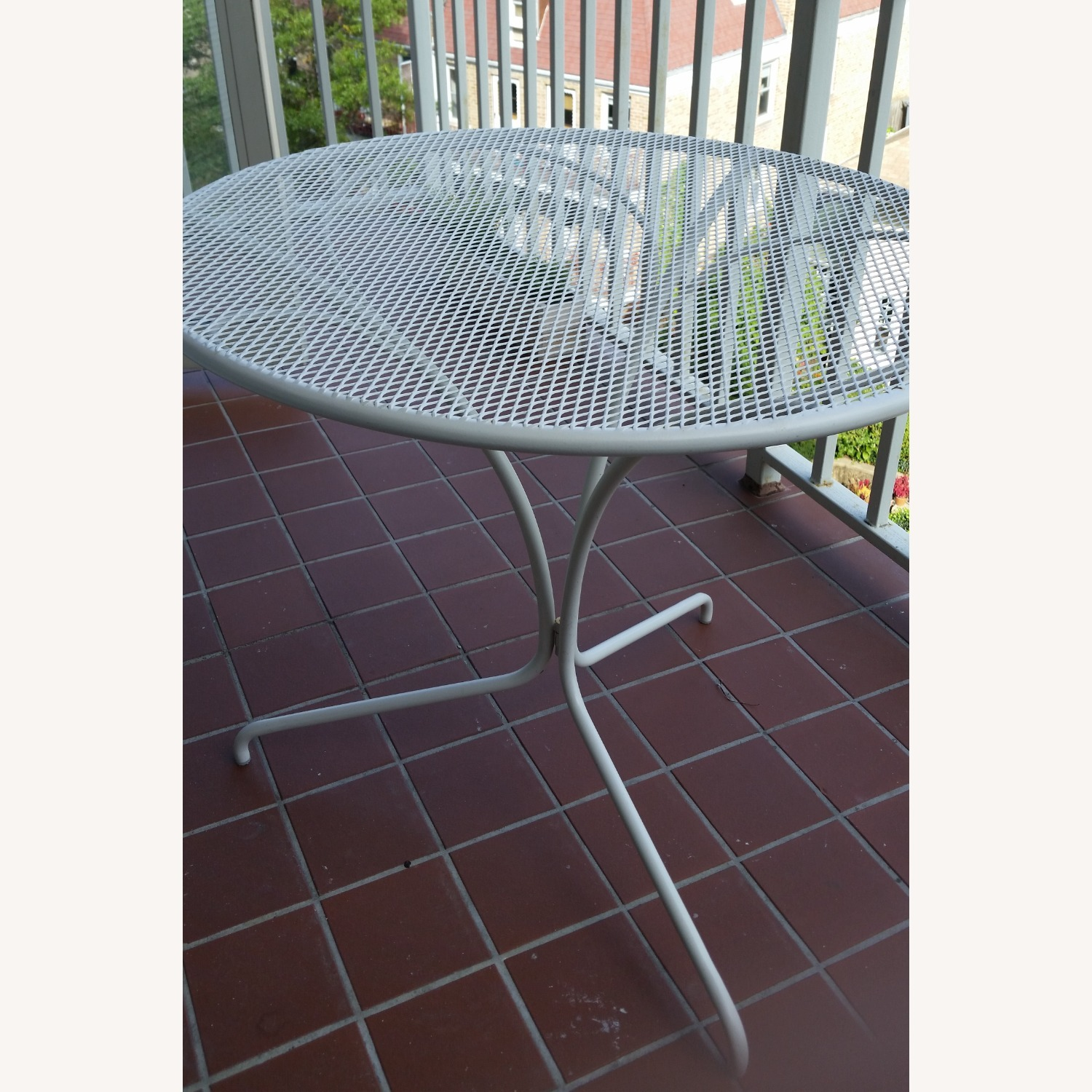 West Elm White Outdoor Bistro Table - image-2