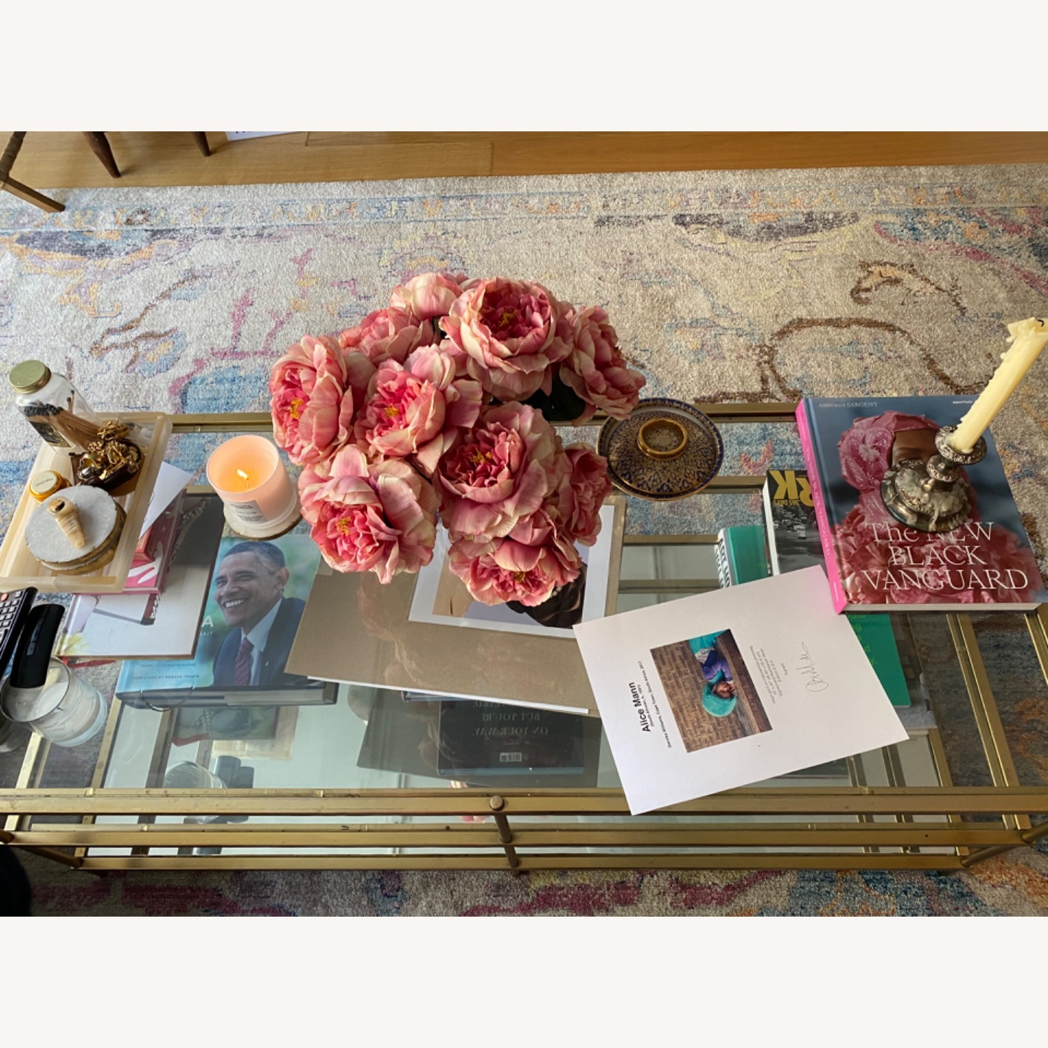 West Elm Glass Coffee Table - image-2