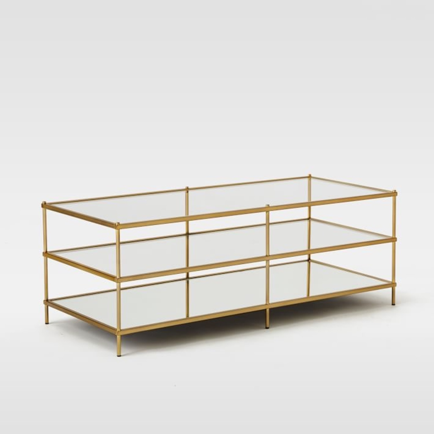 West Elm Glass Coffee Table - image-0