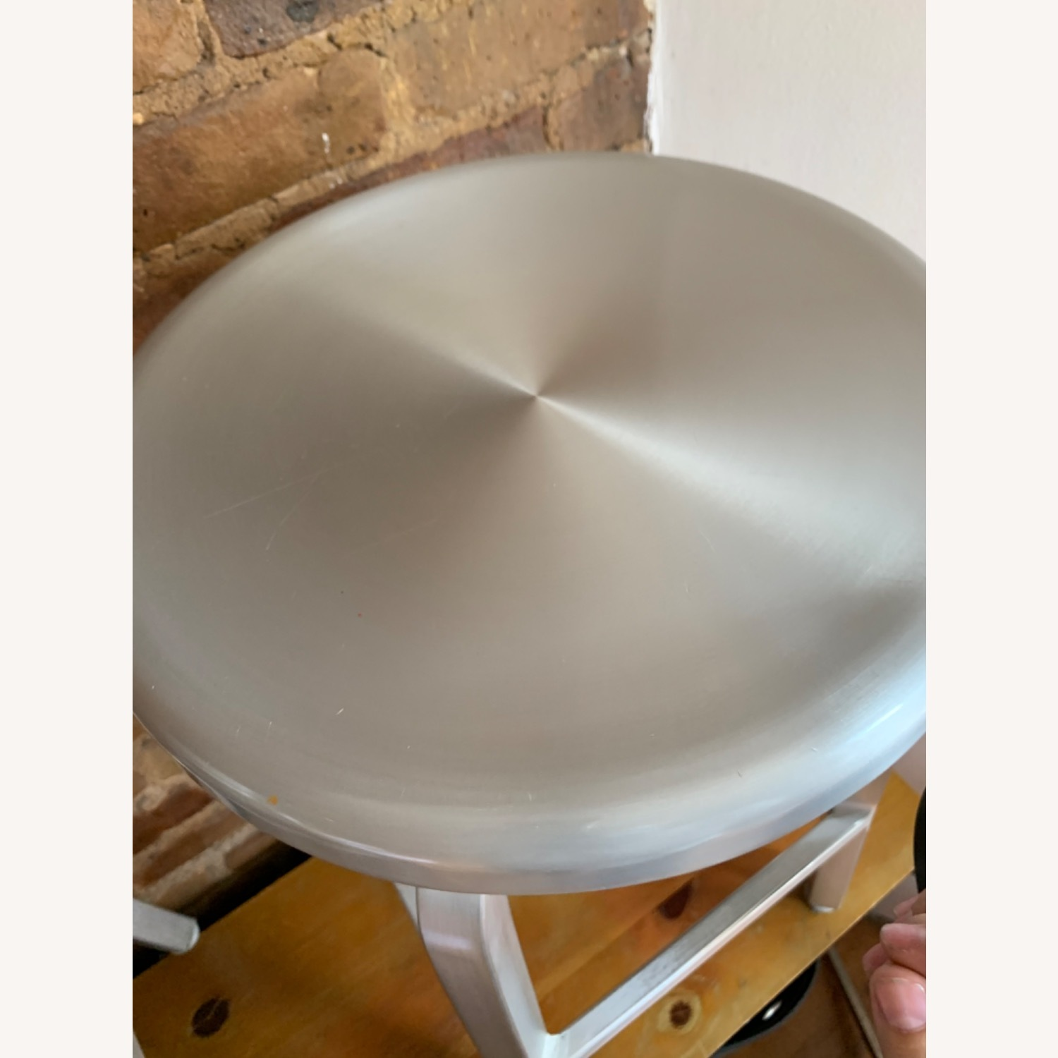 Crate and Barrel Spin Swivel Stool - image-2