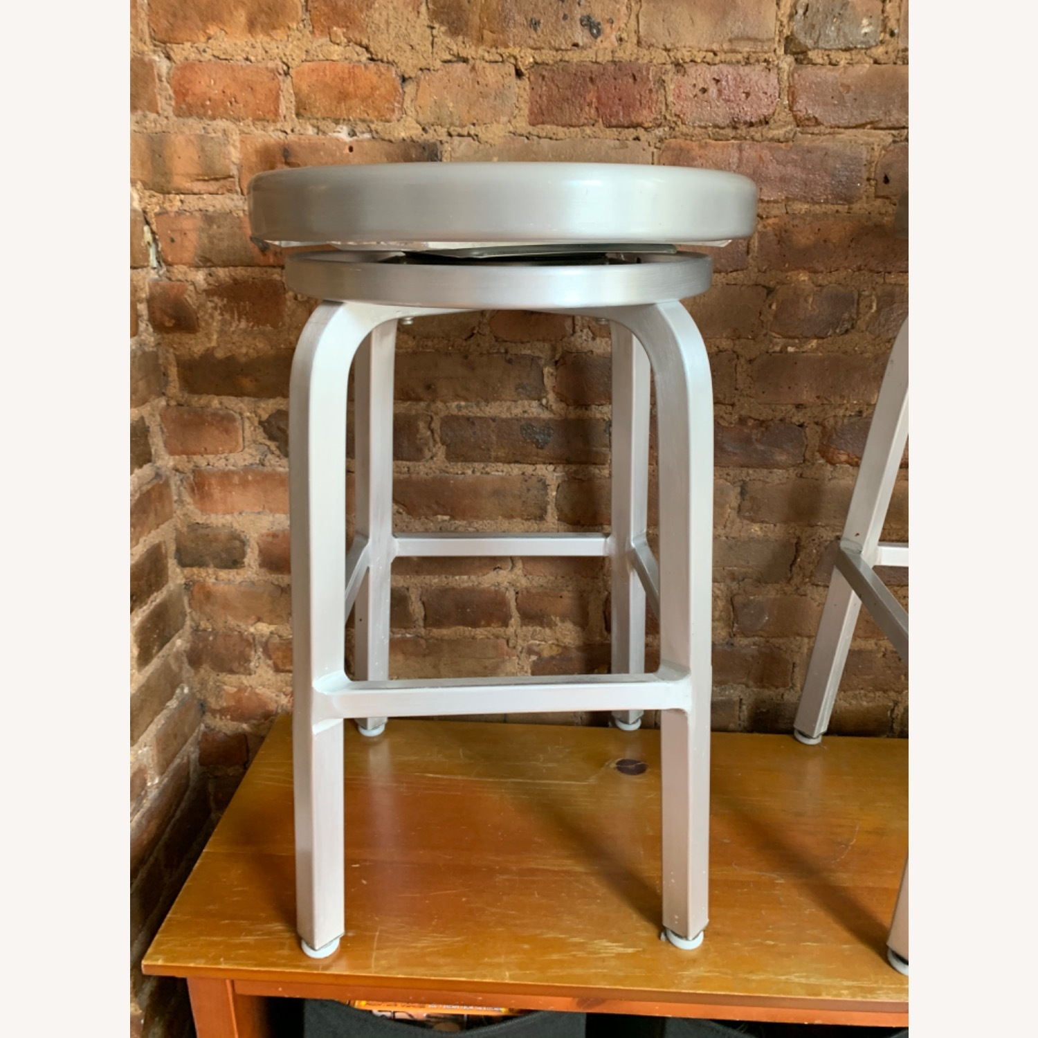 Crate and Barrel Spin Swivel Stool - image-0