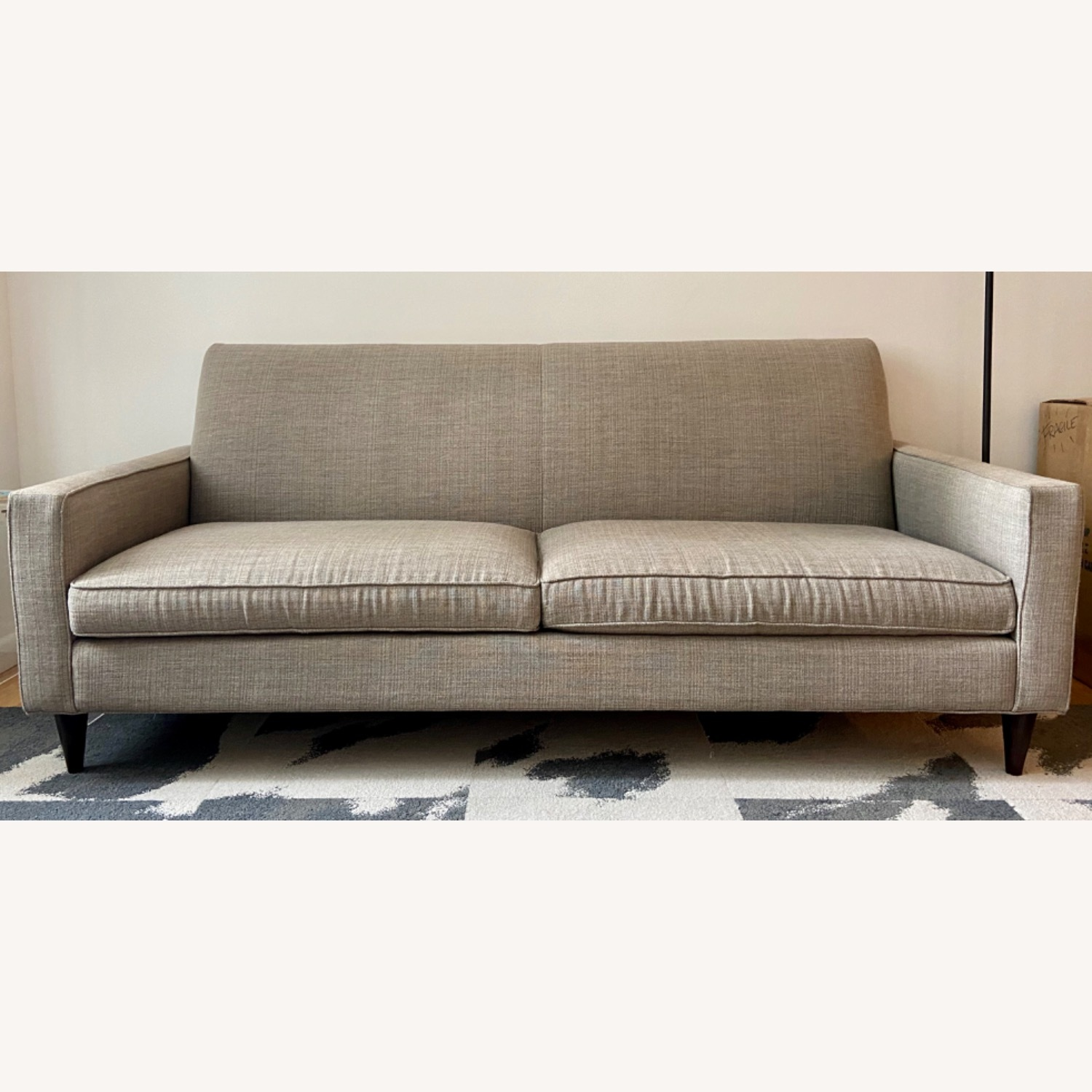 Room & Board Custom Grey Tweed Sofa - image-6