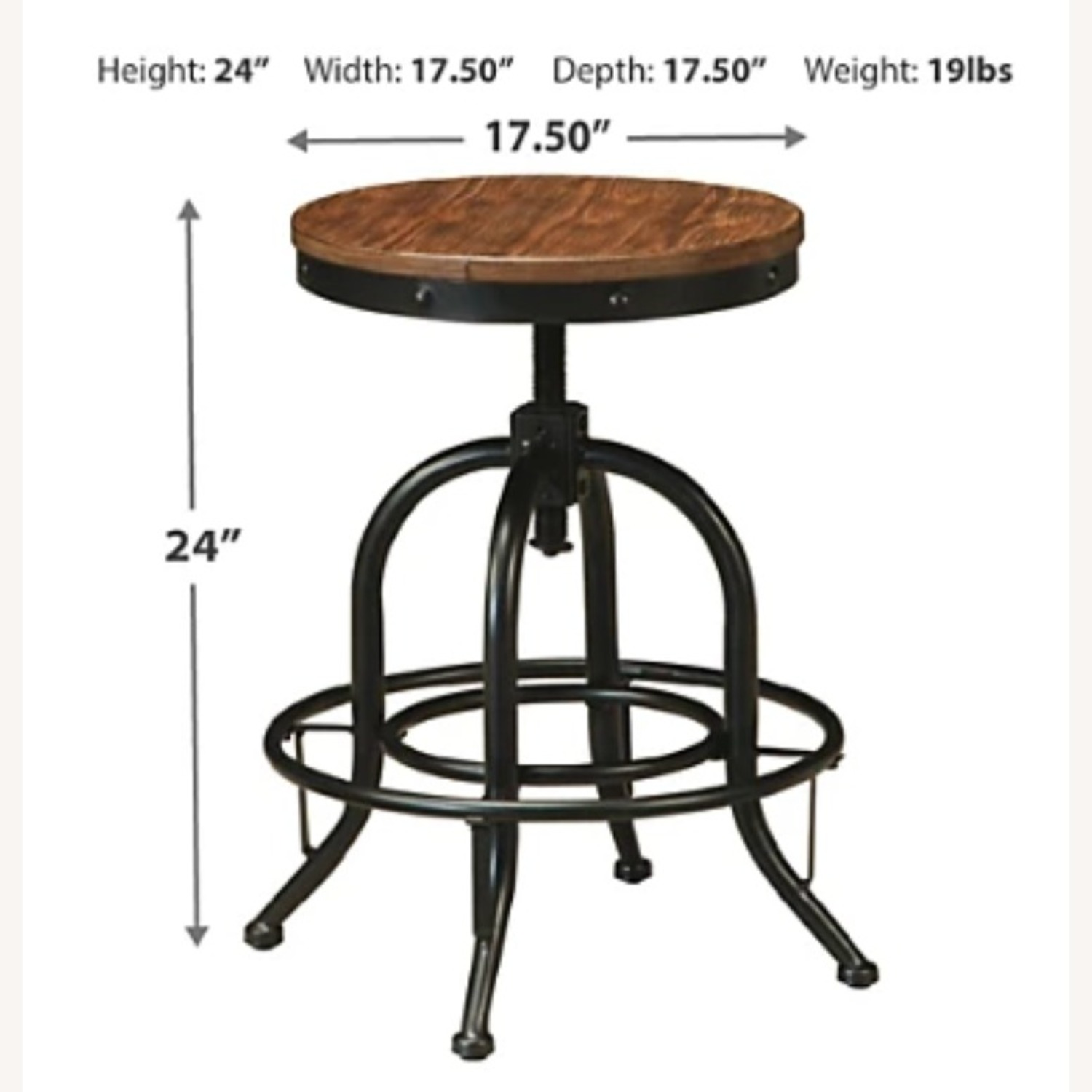 Ashley Furniture Dining Room Bar Table and Bar Stools (4) - image-5
