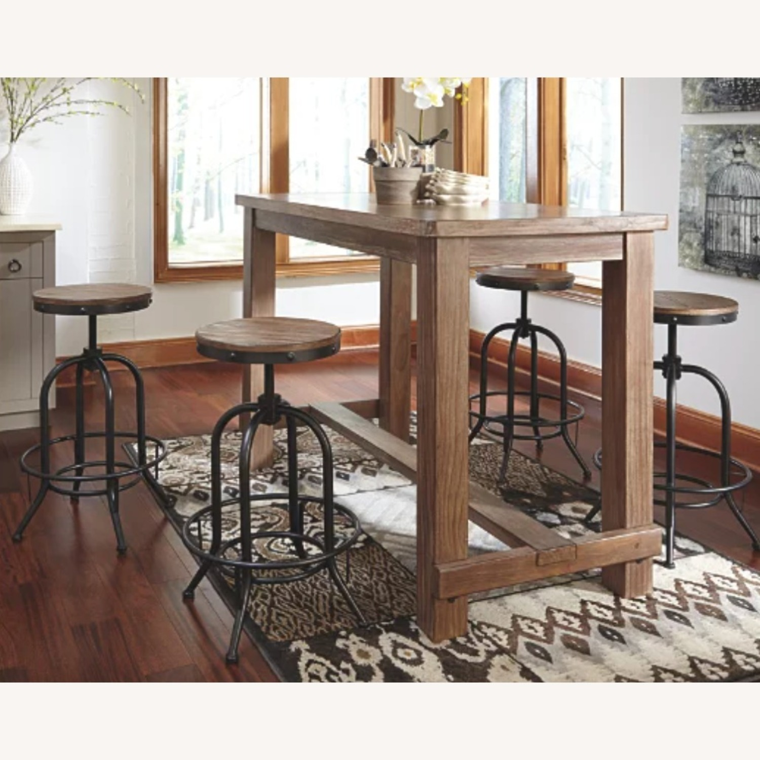 Ashley Furniture Dining Room Bar Table and Bar Stools (4) - image-1