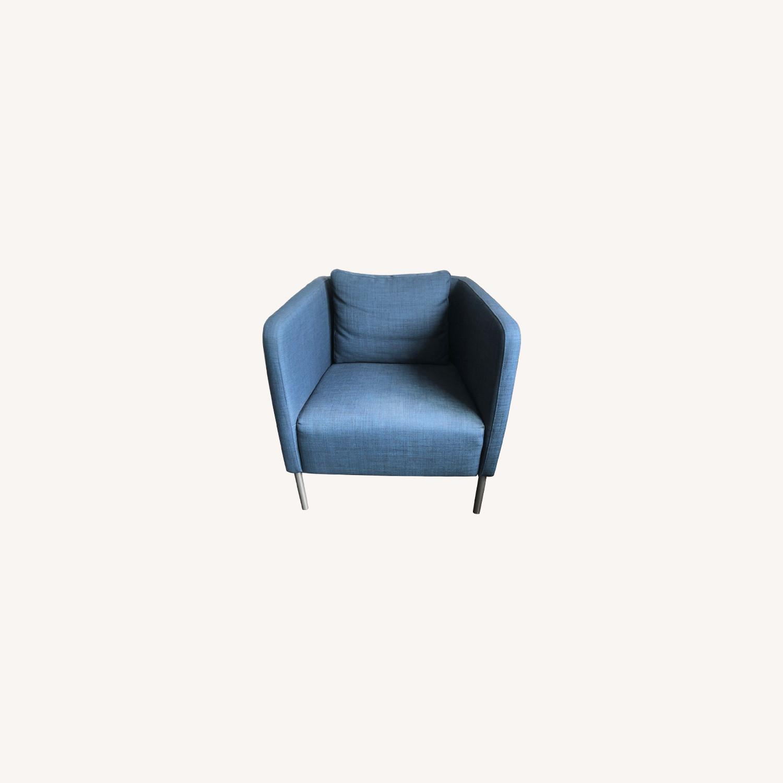 IKEA Ekero Armchair, Dark Blue - image-0