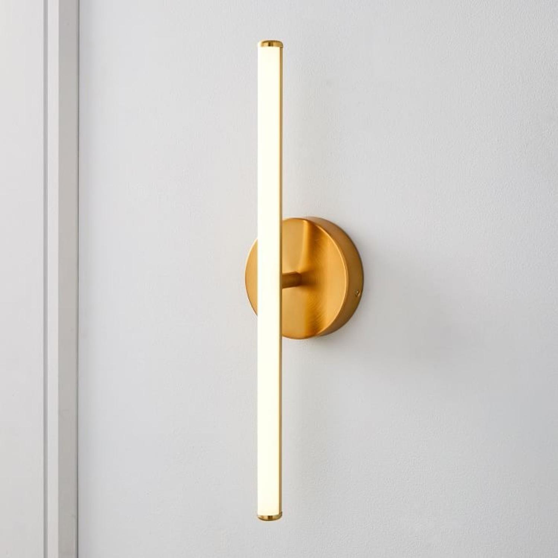 West Elm Light Rods LED Sconce, Antique Brass - image-1