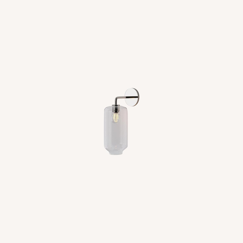 West Elm Sculptural Glass Pebble Sconce - image-0