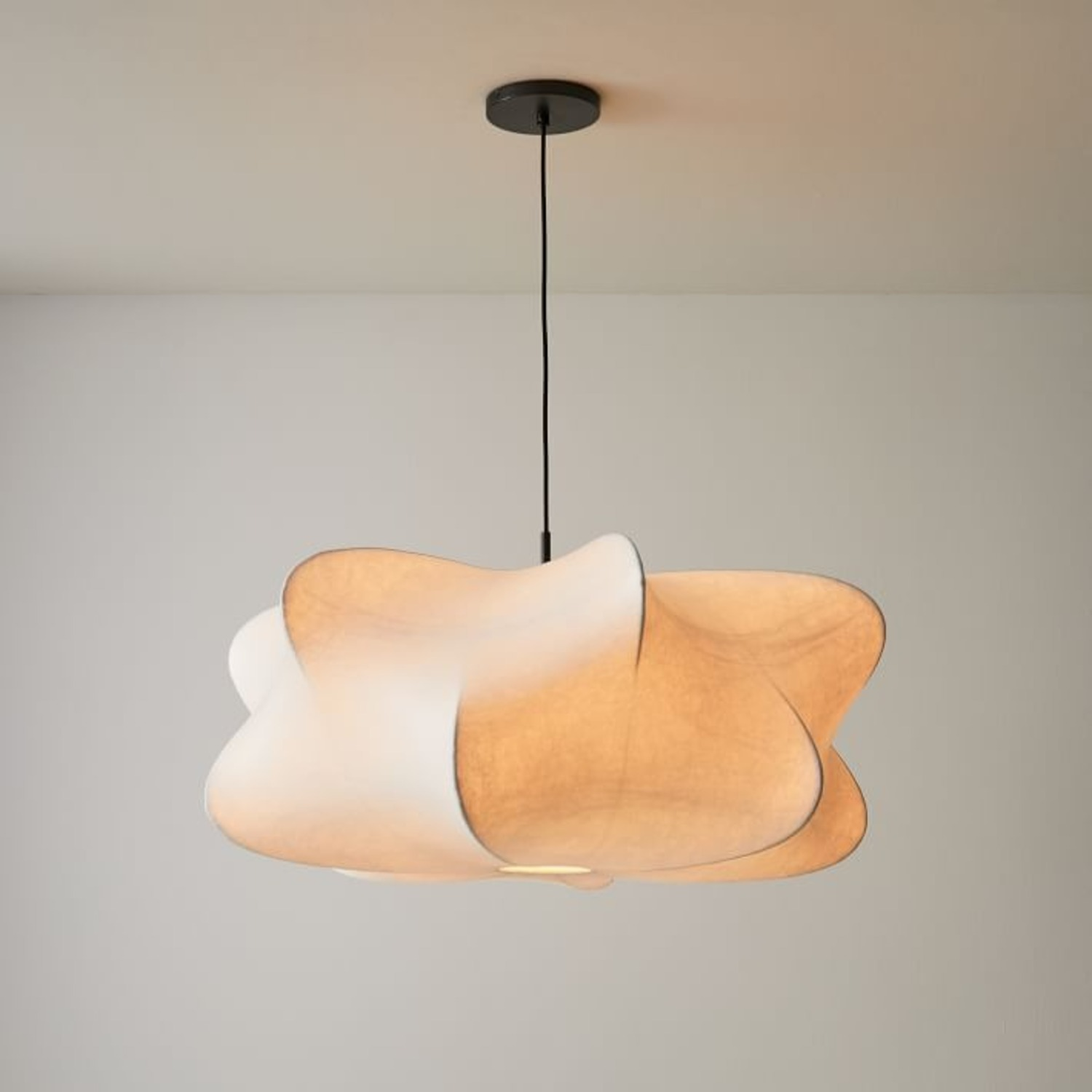 West Elm Cirrus Pendant, White, Dark Bronze - image-3