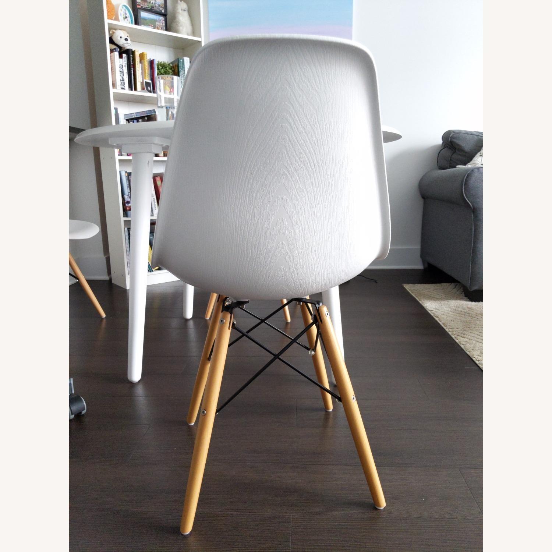 Wayfair White Eiffel scoop Seat Dining Chair Wooden Legs - image-4