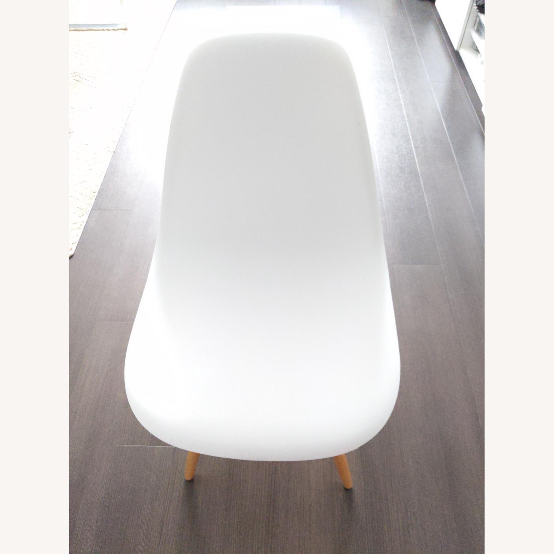 Wayfair White Eiffel scoop Seat Dining Chair Wooden Legs - image-3