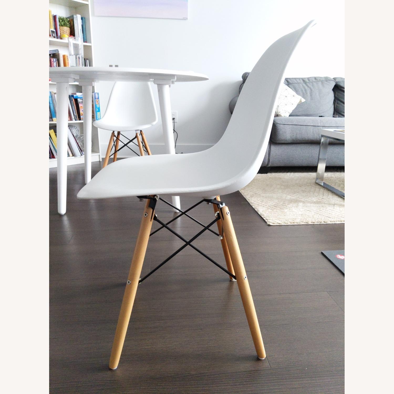 Wayfair White Eiffel scoop Seat Dining Chair Wooden Legs - image-2