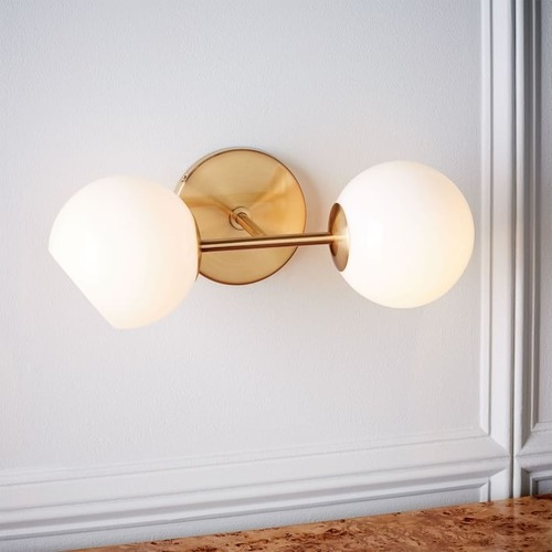 Used West Elm Staggered Glass Sconce for sale on AptDeco