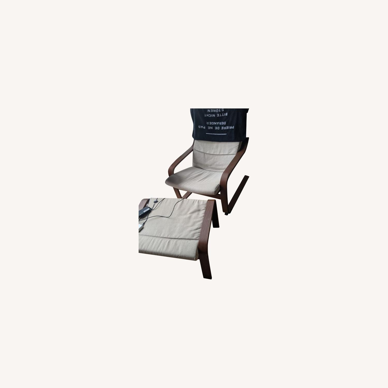 IKEA Lounge Chair and Ottoman - image-0