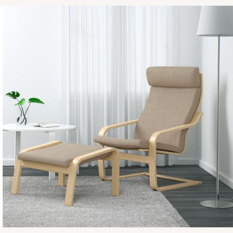 IKEA Lounge Chair and Ottoman - image-1