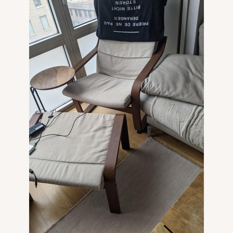 IKEA Lounge Chair and Ottoman - image-3