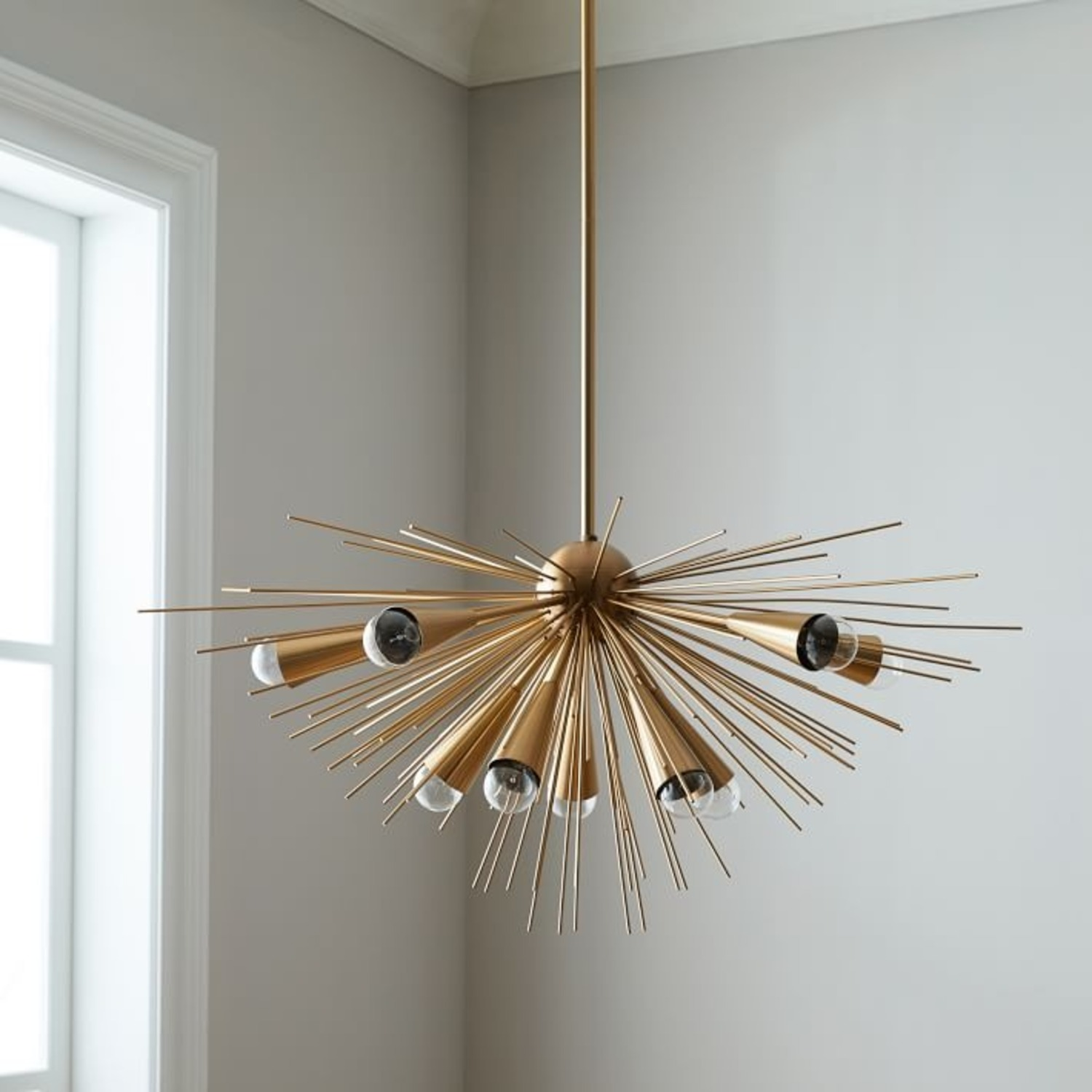 West Elm Sputnik Chandelier, Bronze/Brass - image-3
