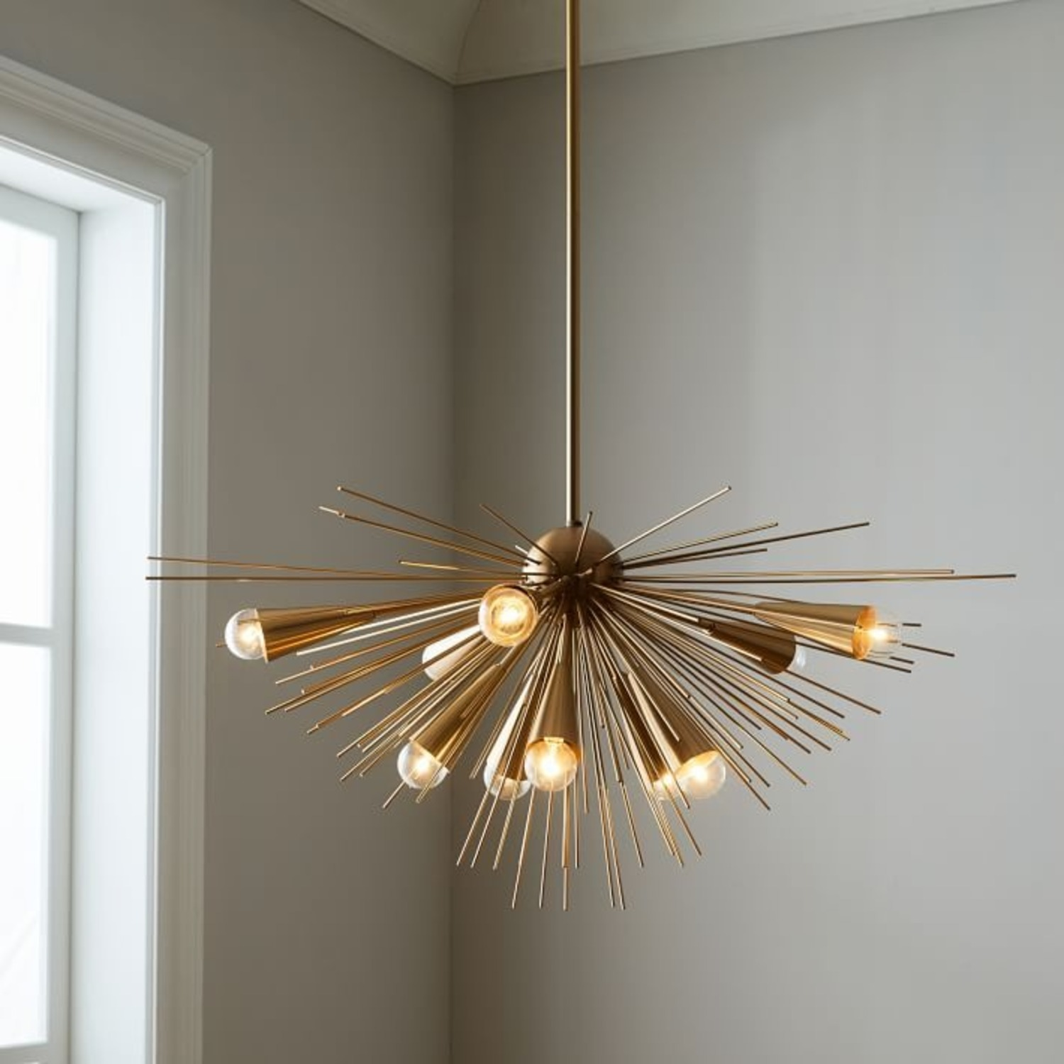 West Elm Sputnik Chandelier, Bronze/Brass - image-1