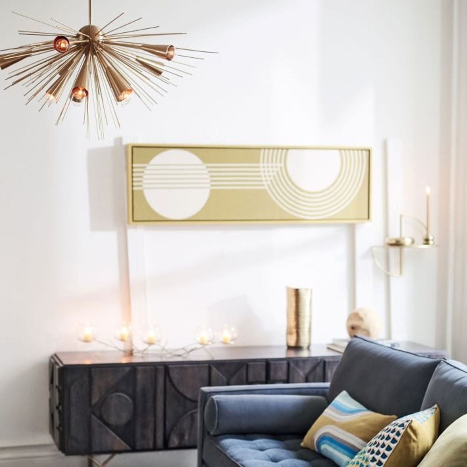 West Elm Sputnik Chandelier, Bronze/Brass - image-2