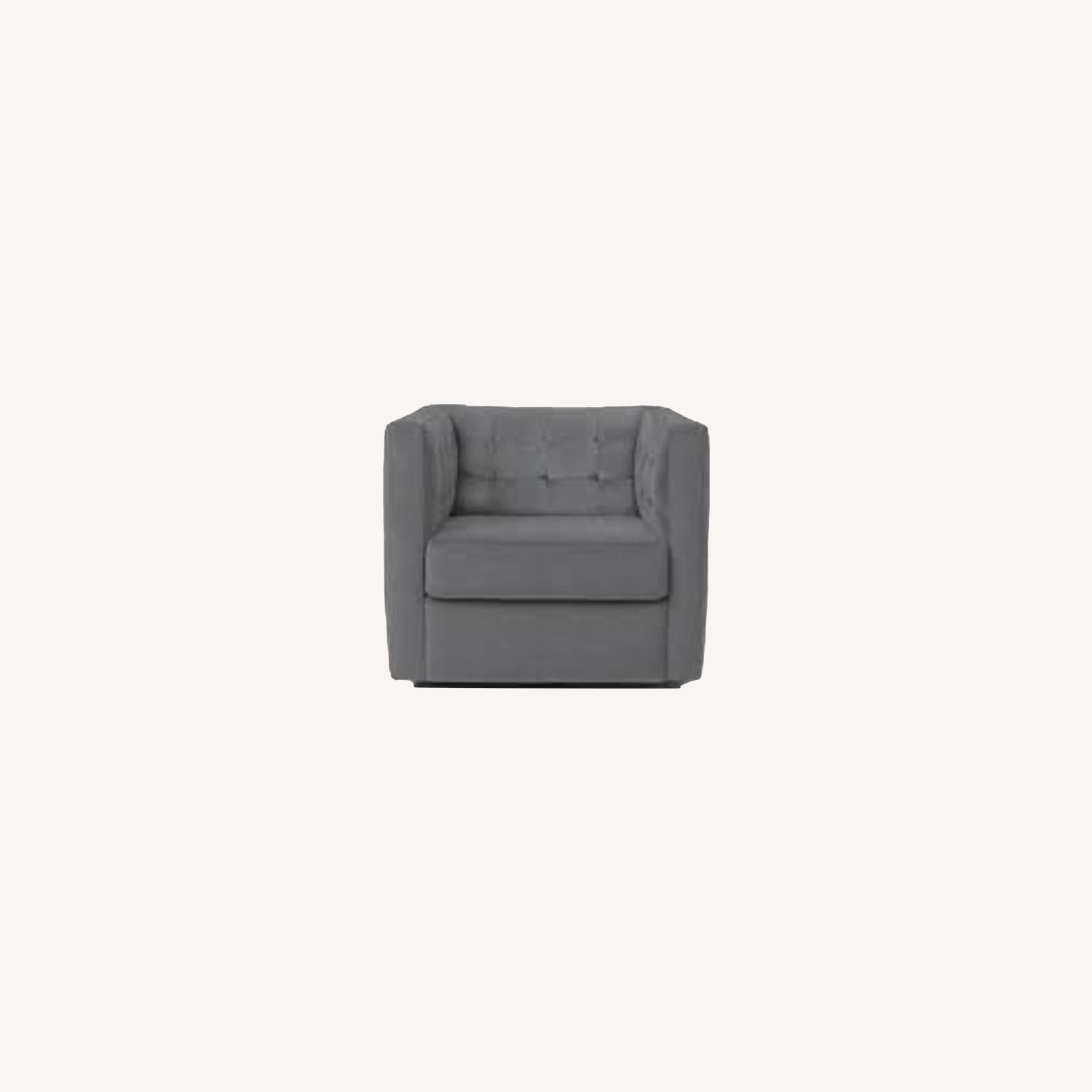 West Elm Rochester Swivel Chair - image-0