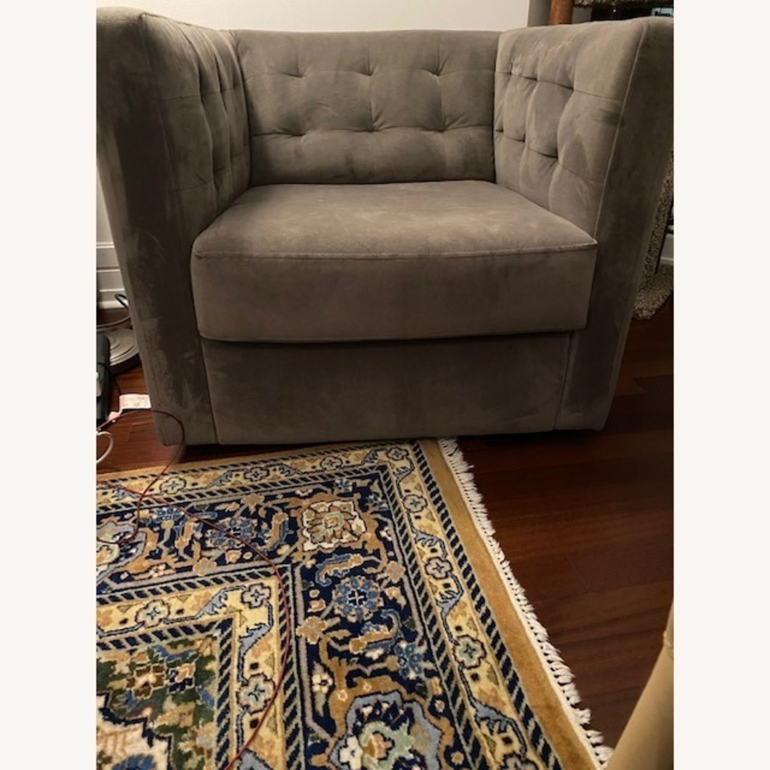 West Elm Rochester Swivel Chair - image-4