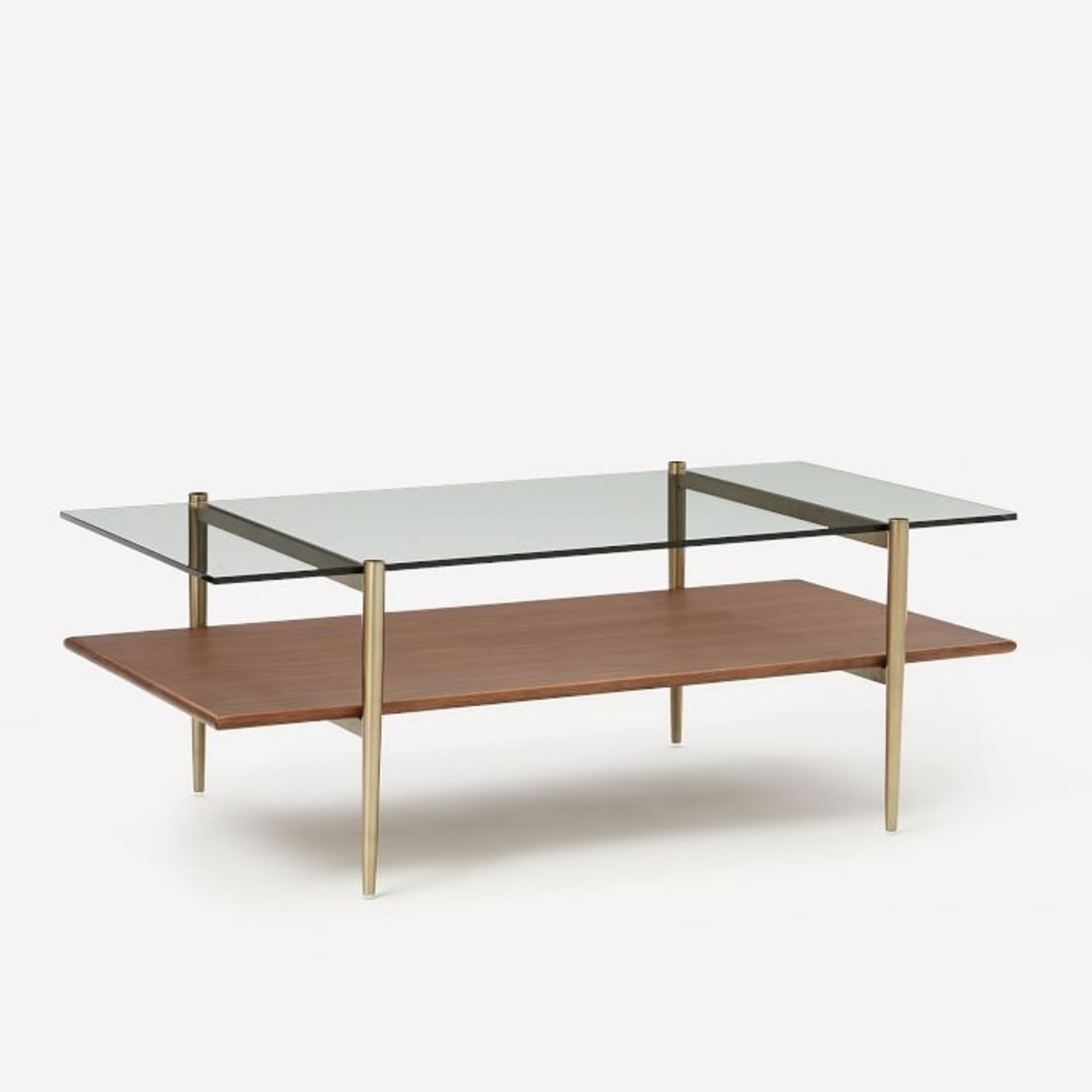 West Elm Mid-Century Art Display Coffee Table - image-1