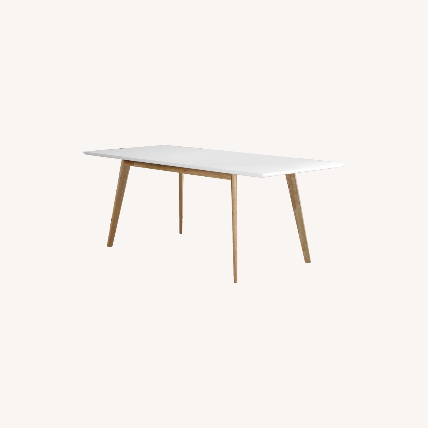Wayfair Charming White All Modern Extendable Dining Table - image-0