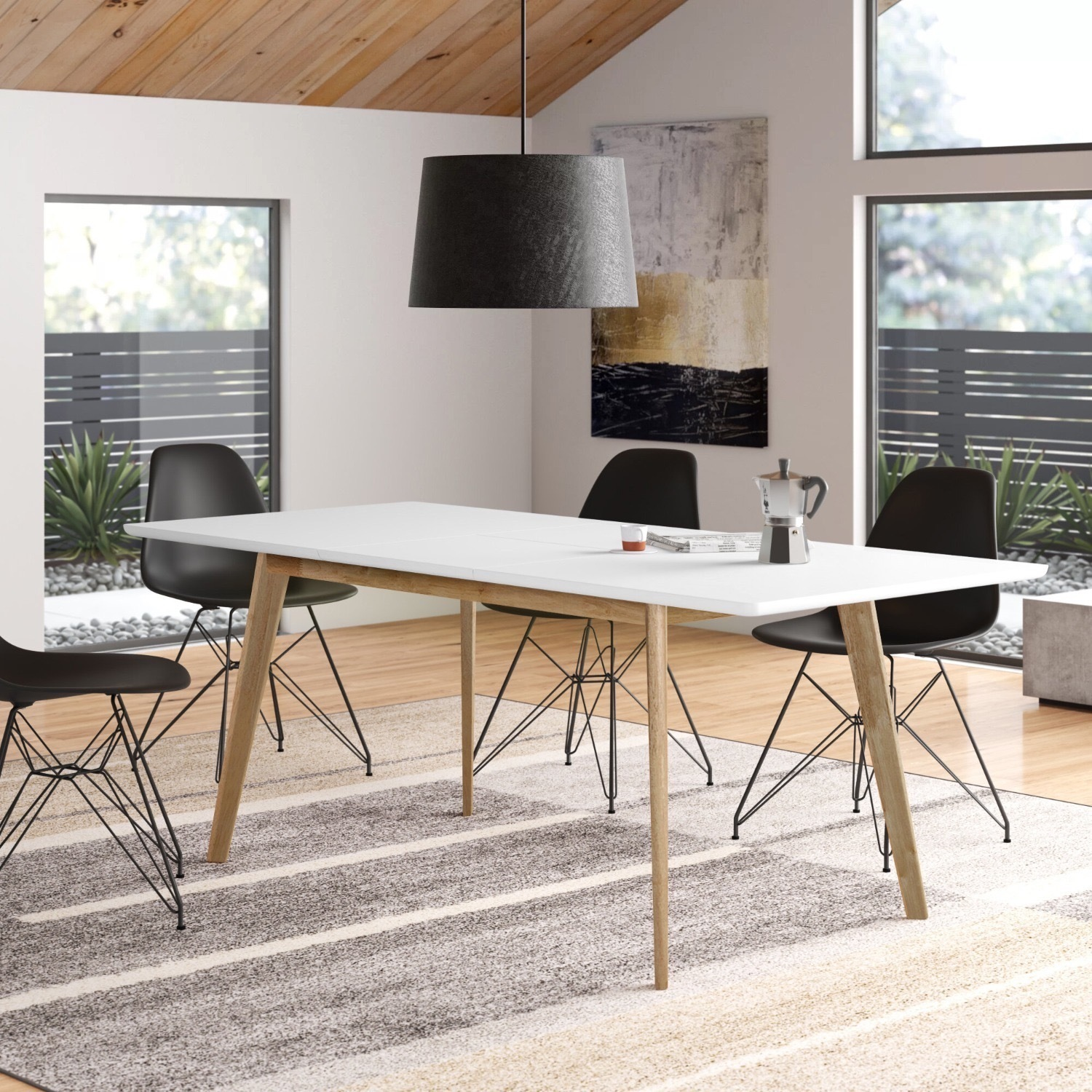 Wayfair Charming White All Modern Extendable Dining Table - image-1