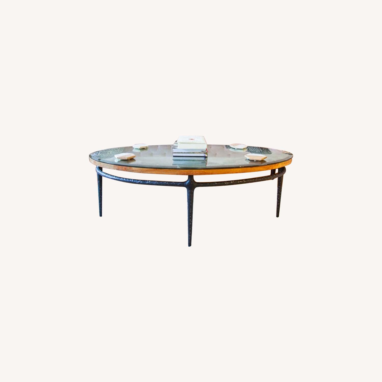 Pottery Barn Adeline Sofa Blush Velvet - image-5
