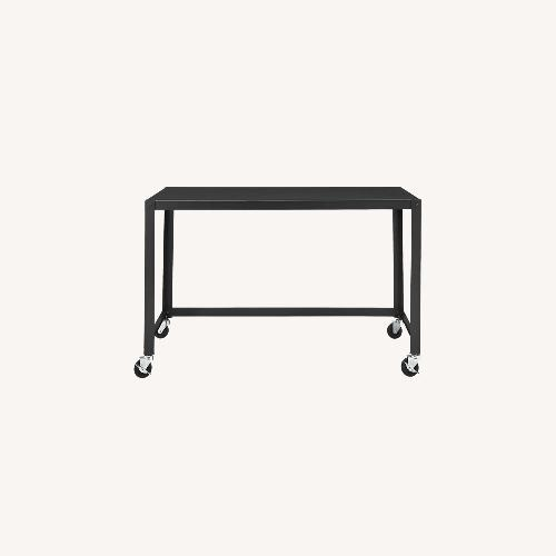 Used CB2 GO-CART Black Rolling Desk for sale on AptDeco