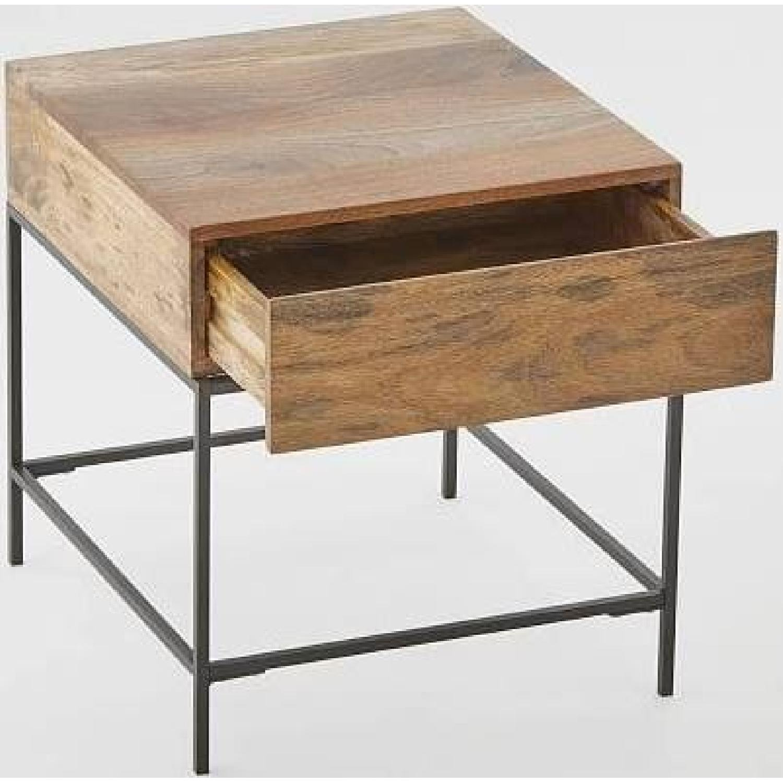 West Elm Industrial Storage Side Tables - image-1