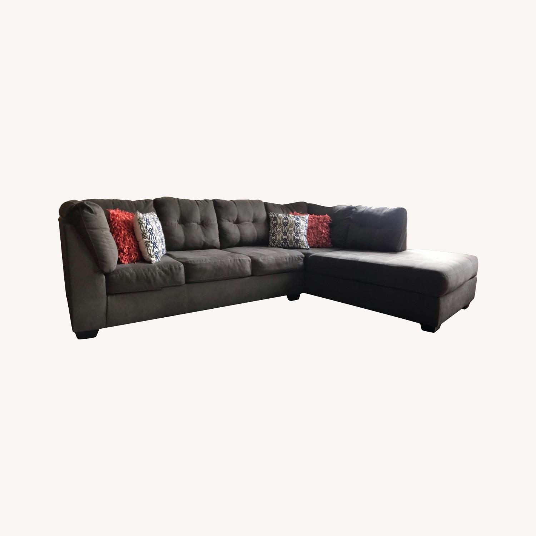 Ashley Furniture Chocolate Setional - image-0
