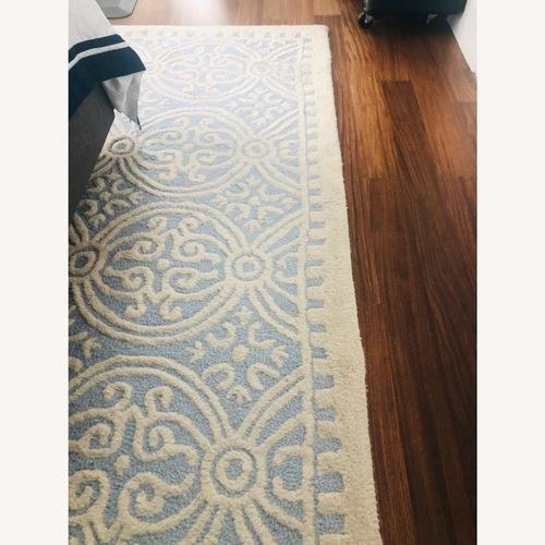 Used Safavieh Gorgeous Light Blue Wool Rug for sale on AptDeco
