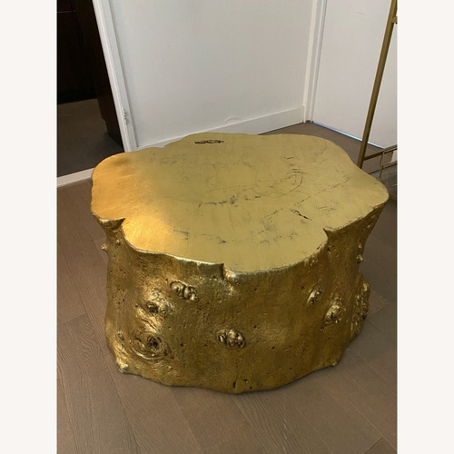 Used ABC Carpet and Home Gold Leaf Log Coffee Table for sale on AptDeco