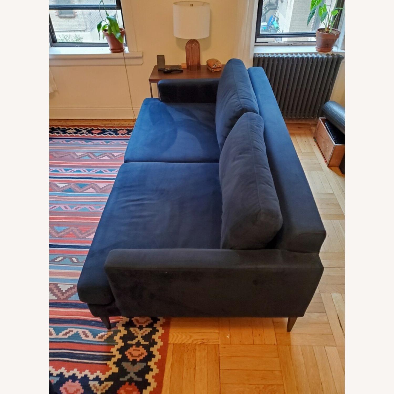 West Elm Andes Navy Velvet Sofa - image-2