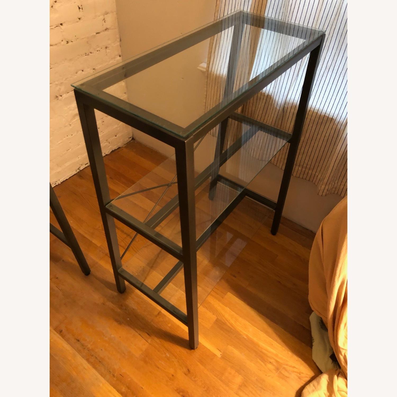 CB2 Glass & Metal Desk - image-4