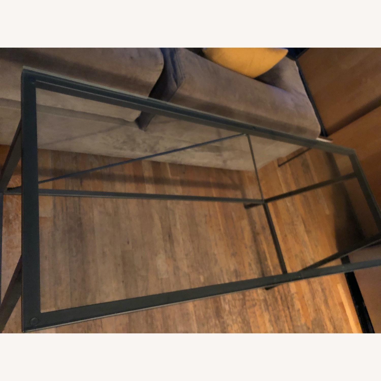 CB2 Glass & Metal Desk - image-7