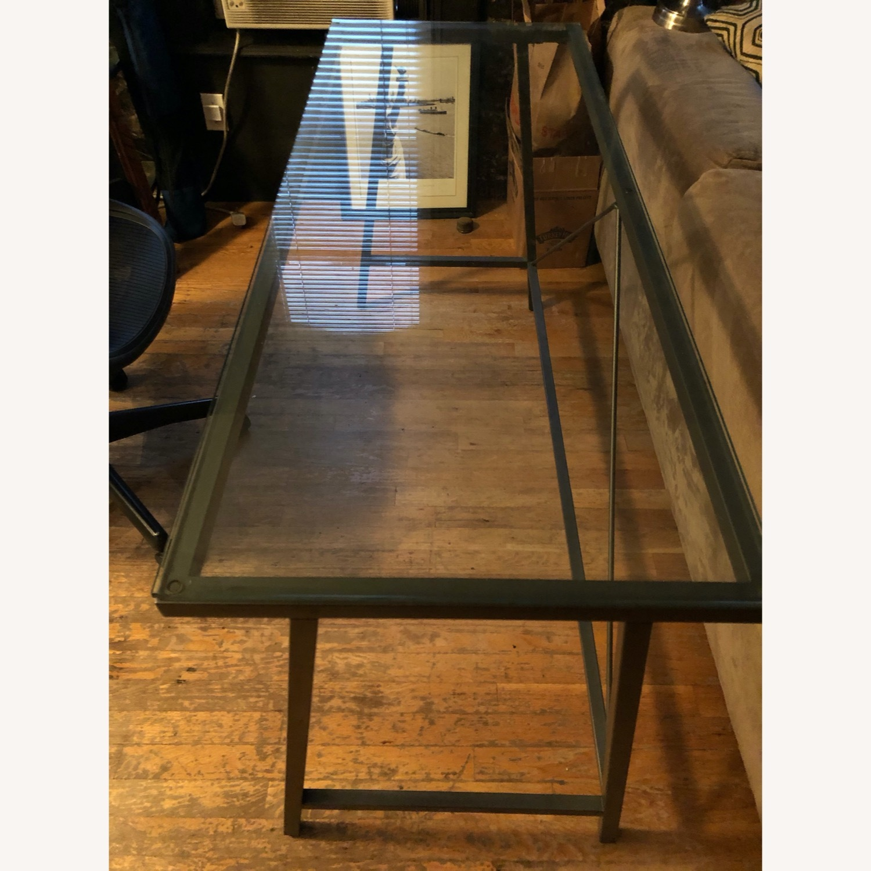 CB2 Glass & Metal Desk - image-6