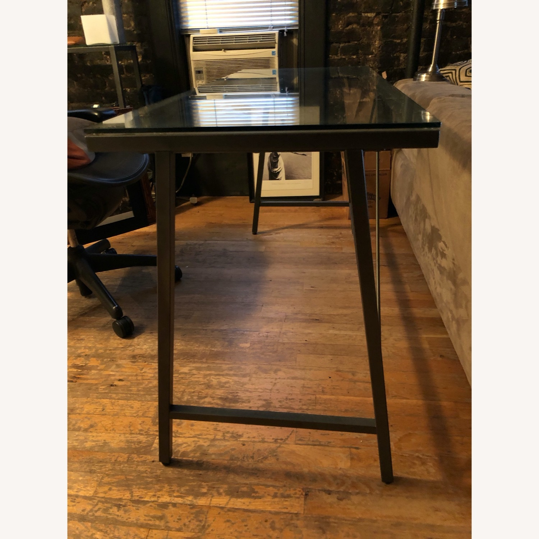 CB2 Glass & Metal Desk - image-5