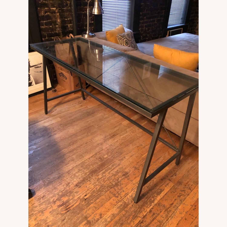 CB2 Glass & Metal Desk - image-8