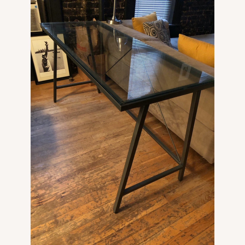 CB2 Glass & Metal Desk - image-9