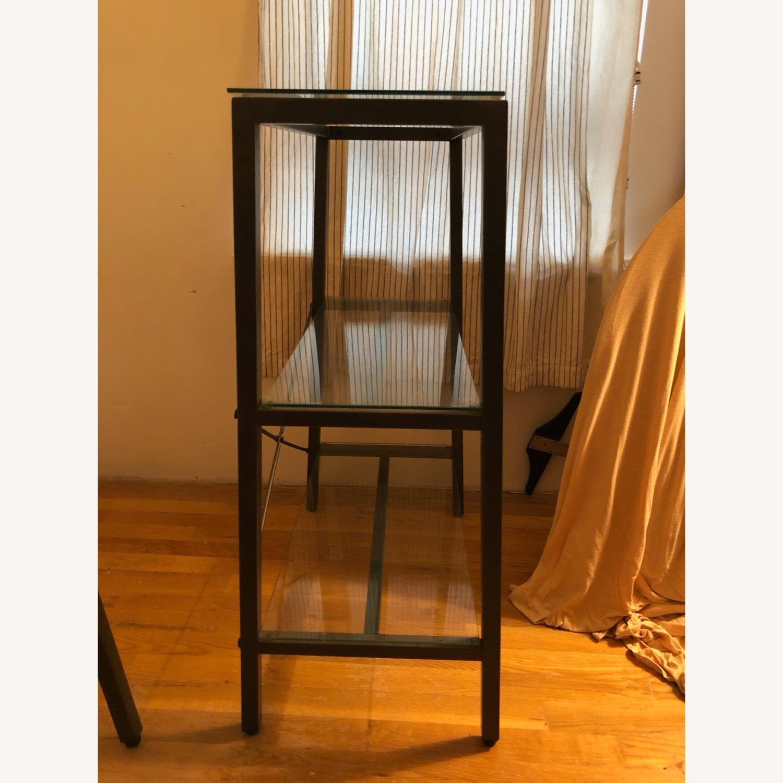 CB2 Glass & Metal Desk - image-2