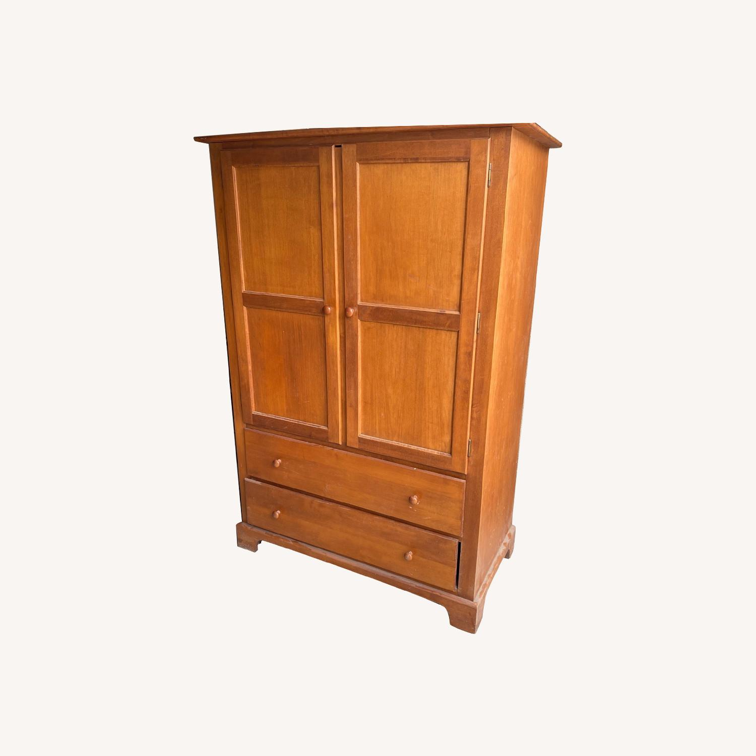 Macy's Canadian Maple Armoire - image-0