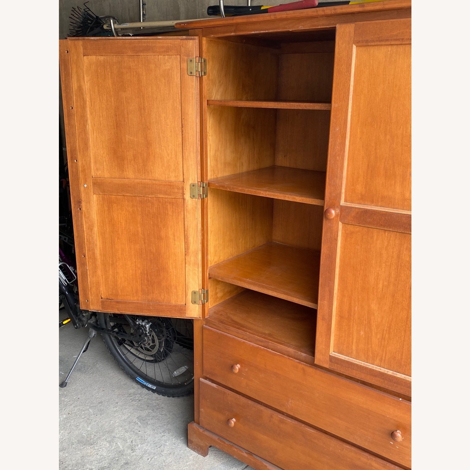 Macy's Canadian Maple Armoire - image-1