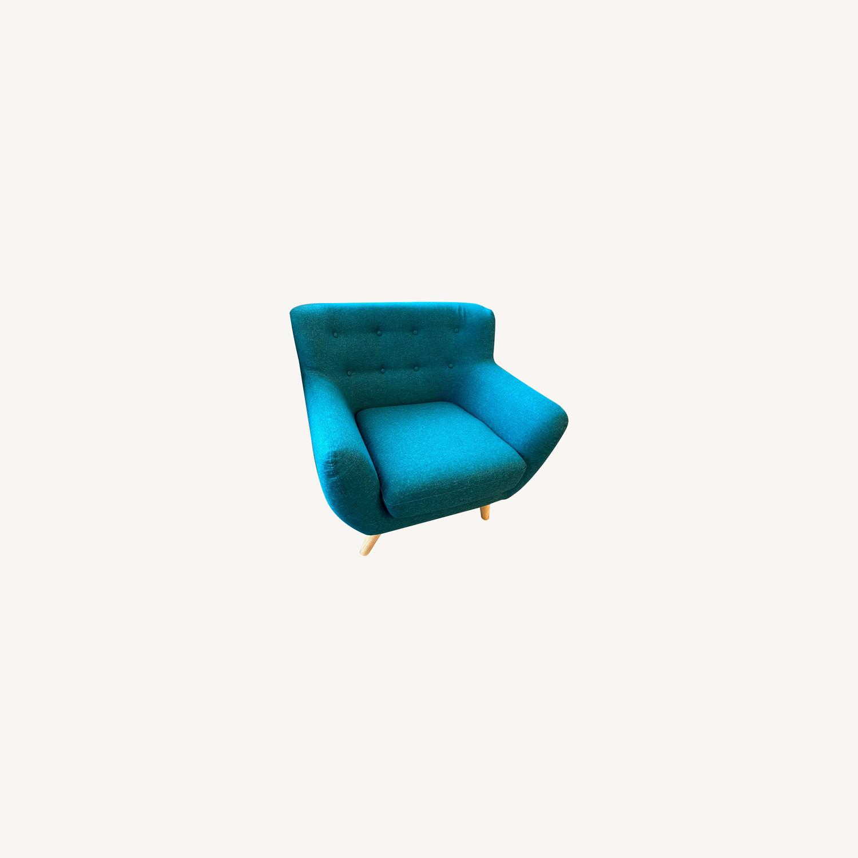 Wayfair Teal Accent Chair - image-0