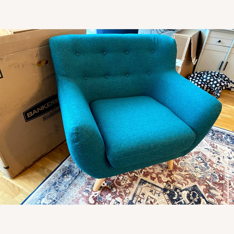 Wayfair Teal Accent Chair - image-4