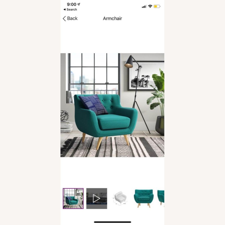 Wayfair Teal Accent Chair - image-1