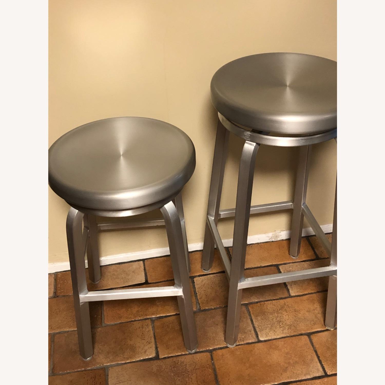 Crate & Barrel Spin Swivel Backless Bar Stool - image-2