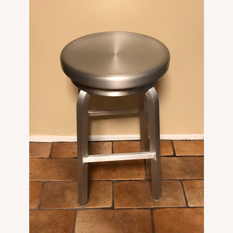 Crate & Barrel Spin Swivel Backless Bar Stool - image-3