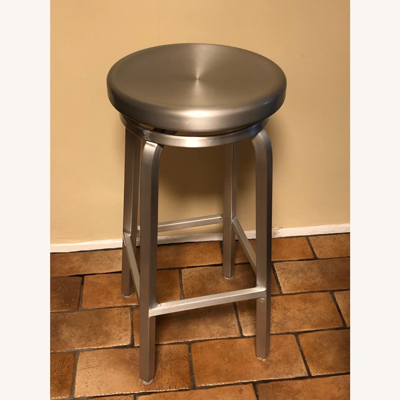 Crate & Barrel Spin Swivel Backless Bar Stool - image-1