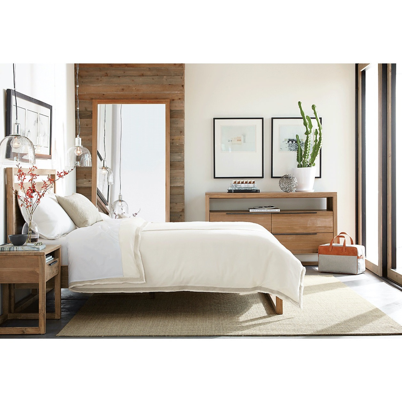 Crate & Barrel Queen Bed - image-3